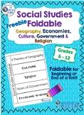 Social Studies Foldable