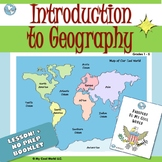 Intro to Geography Lesson, Images, Booklet w/ Mapping  for