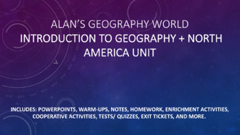 Introduction to Geography + North America Unit Bundle Materials