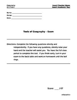 Introduction to Geography Test