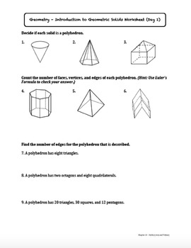 Introduction to Geometric Solids (Lesson with Homework)