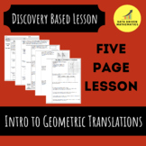Introduction to Geometric Translations Activity