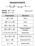 Introduction to Geometric with Algebra Proofs