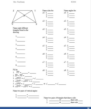 Introduction to Geometry: Naming angles and lines