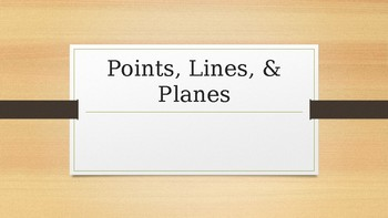 Introduction to Geometry: Points, Lines, and Planes