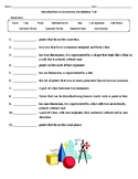 Introduction to Geometry Vocabulary Test