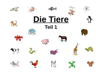 Introduction to German Animals (with color practice)