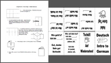 Introduction to German - Foldable Mini Booklet