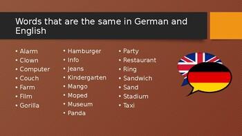 Introduction to German Presentation
