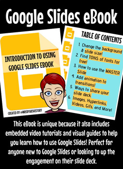 introduction to google slides ebook with tutorial videos tpt