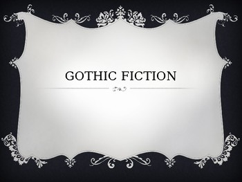 introduction to gothic fiction powerpointyo-ke | tpt, Powerpoint templates