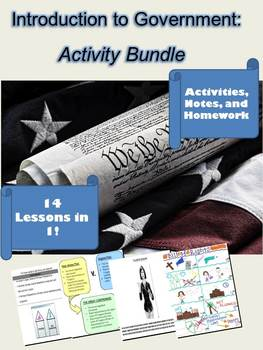 Introduction to Government Activity Bundle: 14 Lessons in 1!