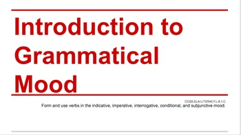 Introduction to Grammatical Mood