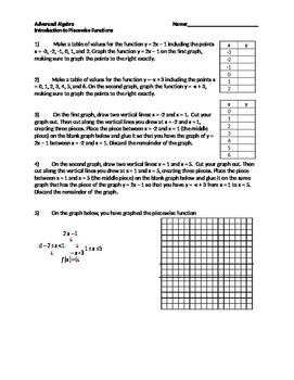 Graph Piecewise Functions Teaching Resources Teachers Pay Teachers