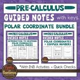 Polar Coordinate Bundle - Interactive Notebook Activities