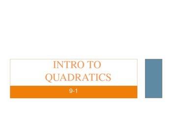 Introduction to Graphing Quadratics