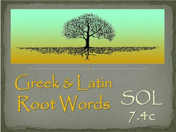 Introduction to Greek & Latin Roots - PPT & Study Guide