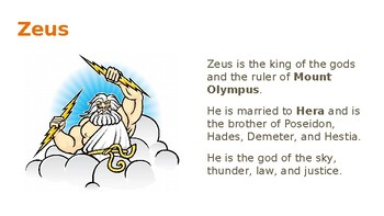 Introduction to Greek Mythology Lesson with Guided Notes