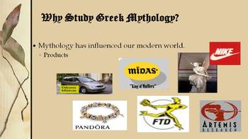 Introduction to Greek Mythology- PowerPoint, Guided Notes, and Article