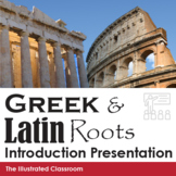 Greek and Latin Roots Introduction PowerPoint and Quiz