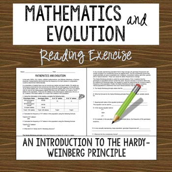 Introduction to Hardy-Weinberg Reading Exercise (Mathematics in Evolution)