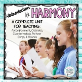 Harmony in Music : Presentation, Worksheet, & Test with definitions & examples