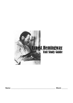 Introduction to Hemingway Student Packet with Resources