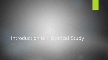Introduction to Historical Study