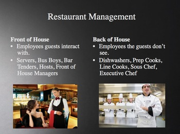Introduction to Hospitality Unit 3 - Key Players in Hospitality Operations