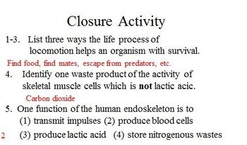 Introduction to Human Excretion and Human Locomotion Learning Activities