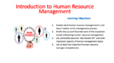 Introduction to Human Resource Management (HR)