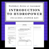 Hydropower and Ocean Energy: Worksheet or Webquest for Distance Learning
