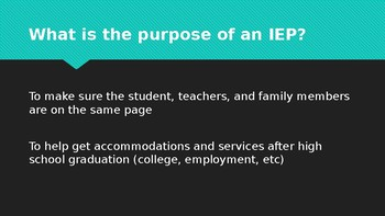 Introduction to IEPs for high school students