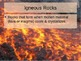 Introduction to Igneous Rocks Power Point