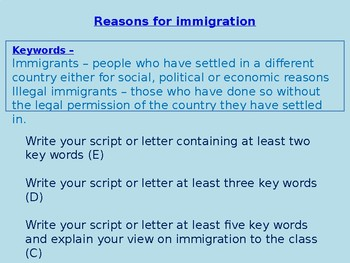Introduction to Immigration KS3