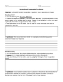 Introduction to Inauguration Day Worksheet