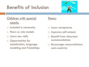 Introduction to Inclusion:  Educating All Children Together