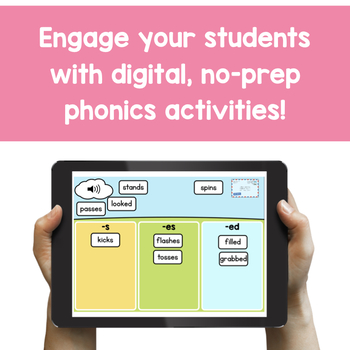 Introduction to Inflectional Endings - Digital Phonics Activities | BOOM Cards™