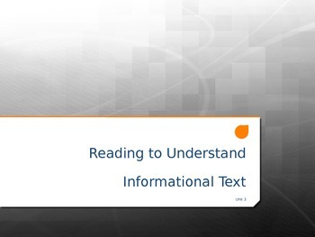 Introduction to Informational Text
