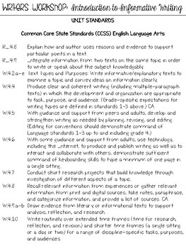 Introduction to Informational Writing