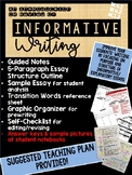 Informative Writing:  Guided Notes, Outlines, Sample Texts & More