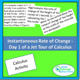 Instantaneous Rate of Change -  Day 1 of a Jet Tour of Calculus