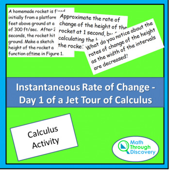 Calculus:  Instantaneous Rate of Change -  Day 1 of a Jet