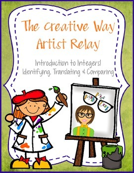 Introduction to Integers! Creative Way Artist Relay - A fun way to review.