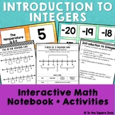 Integers Interactive Notebook
