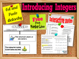 Introduction to Integers:  Interactive Notes and Activity