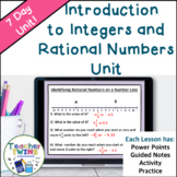Introduction to Integers and Rational Numbers CCS 6.NS.5, 6.NS.6 and 6.NS.7