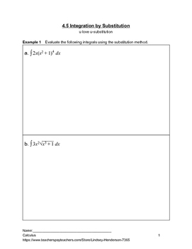 Introduction to Integration Lesson 5 of 5 (u-substitution)