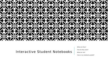 Introduction to Interactive Student Notebooks