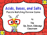 Acids Bases and Salts Puzzle Matching Review Game
